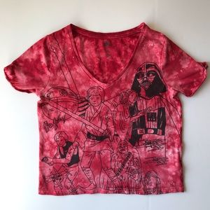 Star Wars Red Tie Dye Shirt {A45}